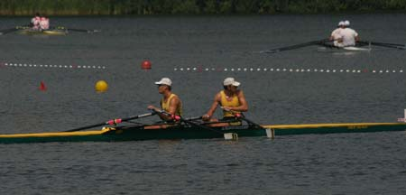 Mens Double Scull After Race